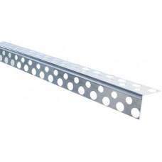 Уголок перфорированный алюминиевый (2,5 м)/шт