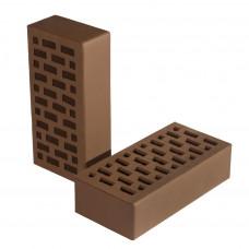 Лицевой керамический кирпич СБК цвет коричневый 250х120х65