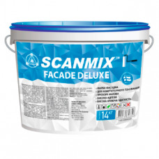 Атмосферостойкая акриловая фасадная краска Scanmix FACADE DELUXE 10л/14кг
