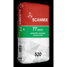 Универсальная белая стартовая шпаклевка Scanmix ТТ White 520 мешок 25 кг