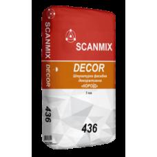 Фасадная минеральная штукатурка Короед Scanmix DEKOR R30 436 мешок 25 кг