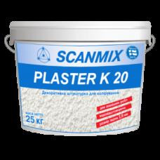 Фасадная декоративная акриловая штукатурка с «камешковой» структурой Scanmix PLASTER K 20 ведро 25кг