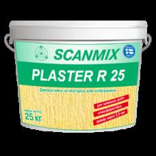 Фасадная декоративная акриловая штукатурка короед Scanmix PLASTER R 25 ведро 25кг