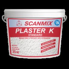 Декоративная акриловая штукатурка с «камешковой» структурой Scanmix PLASTER K Standard ведро 25кг