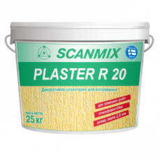 Декоративная акриловая штукатурка короед Scanmix PLASTER R 20 ведро 25кг