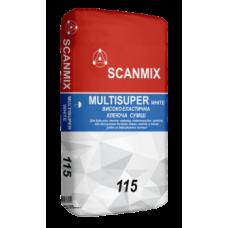 Клей для керамогранита Scanmix MULTISUPER White 115